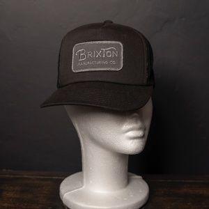 Black Brixton Manufacturing Co. Trucker Hat